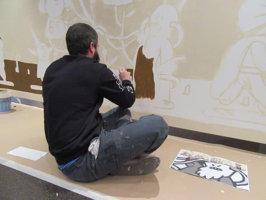 Proyecto mural de street art en Madrid
