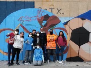 Urban art workshop at the High School Joan Fuster