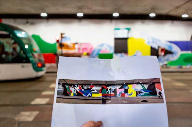 Intervención-artística-de-Mur0ne-en-la-estación-de-TRAM-Cornellà-Centre_-Producción-de-Rebobinart_-Image-by-Lluís-Miras-(11)