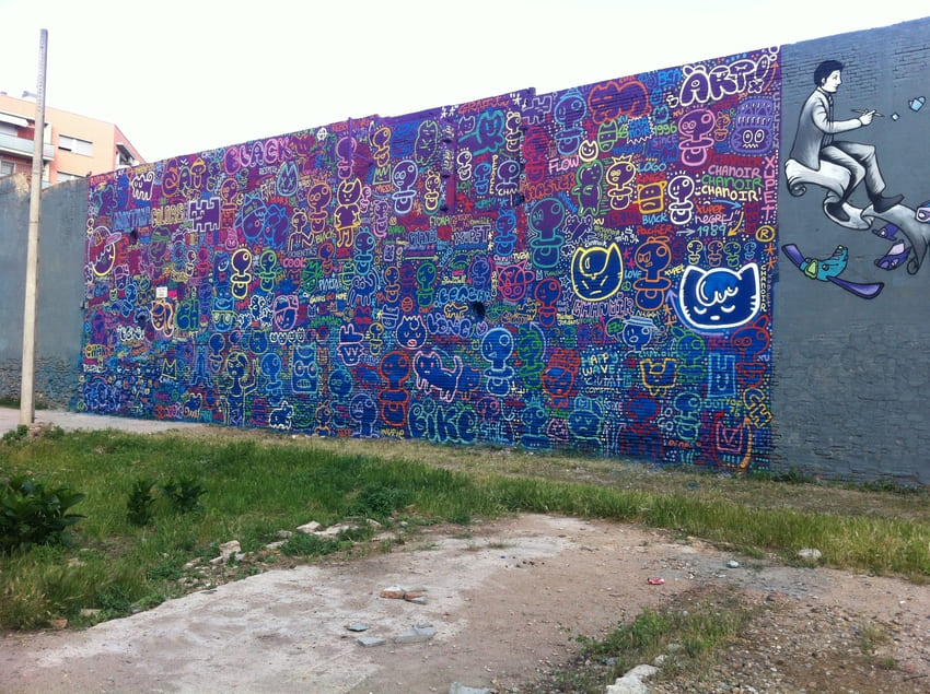 xupet y chanoir graffiti barcelona (5)
