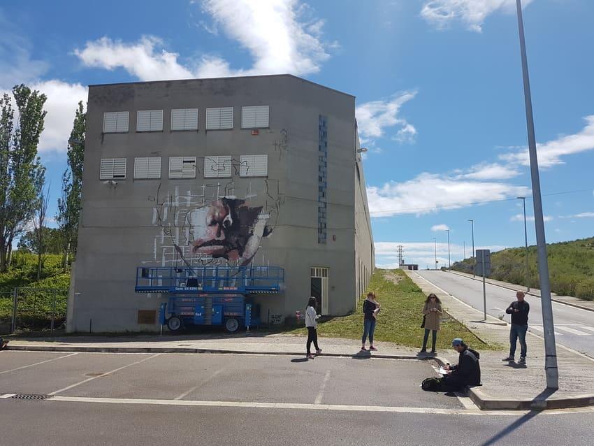 Mural Santa Margarida de Montbui by Brad Robson