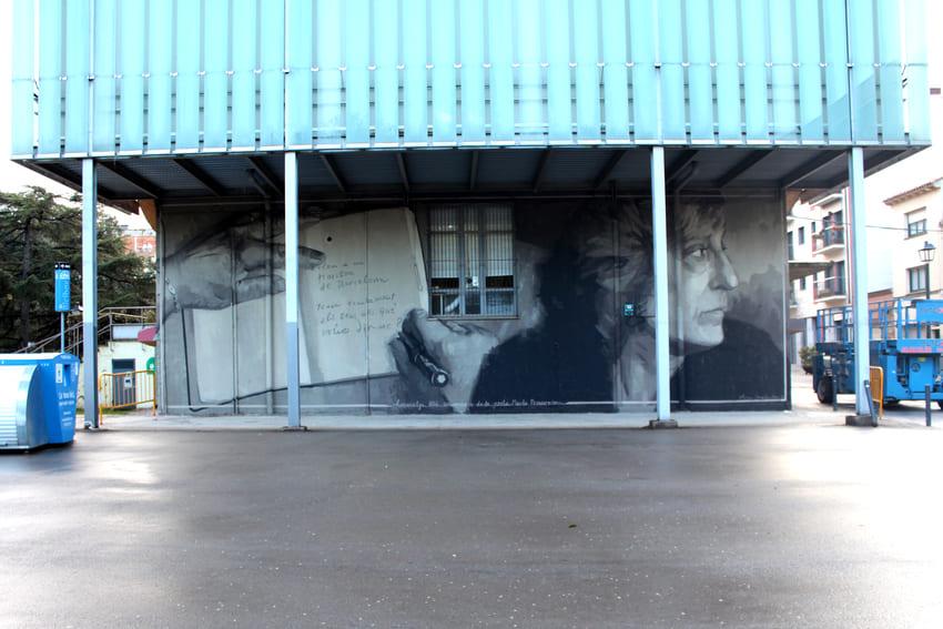 Mural Marta Pessarrodona_Elisa Capdevila_Sant Cugat 1