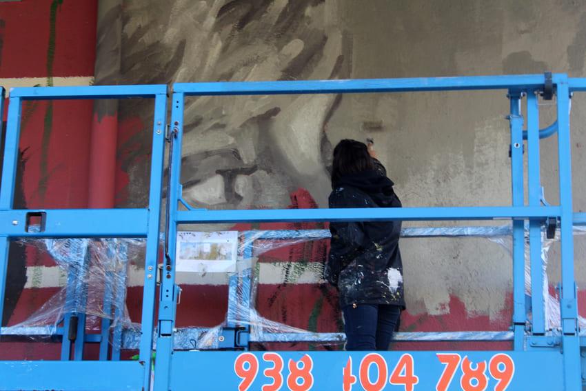 Mural Marta Pessarrodona_Elisa Capdevila_Sant Cugat 10