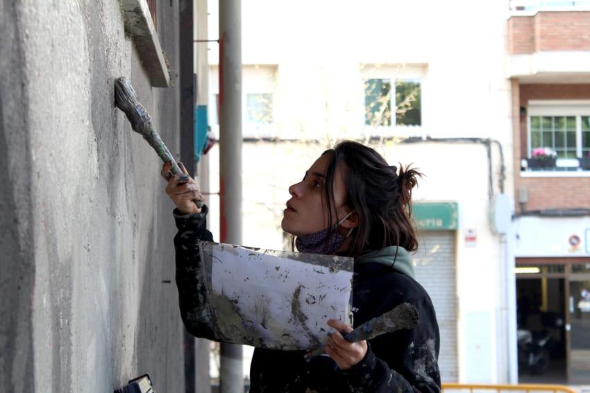 Mural Marta Pessarrodona_Elisa Capdevila_Sant Cugat 4