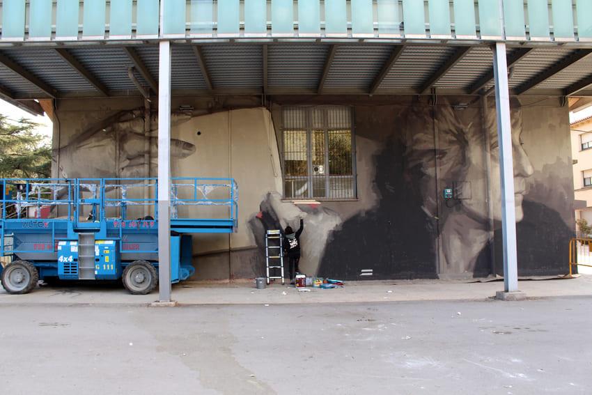 Mural Marta Pessarrodona_Elisa Capdevila_Sant Cugat 5