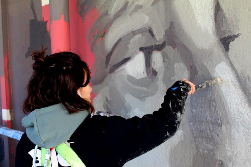 Mural Marta Pessarrodona_Elisa Capdevila_Sant Cugat 6