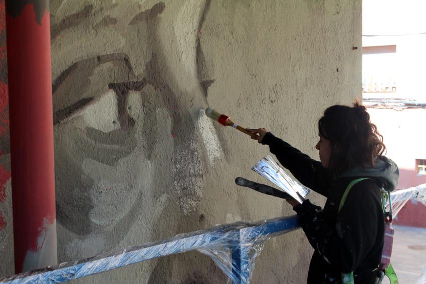 Mural Marta Pessarrodona_Elisa Capdevila_Sant Cugat 7