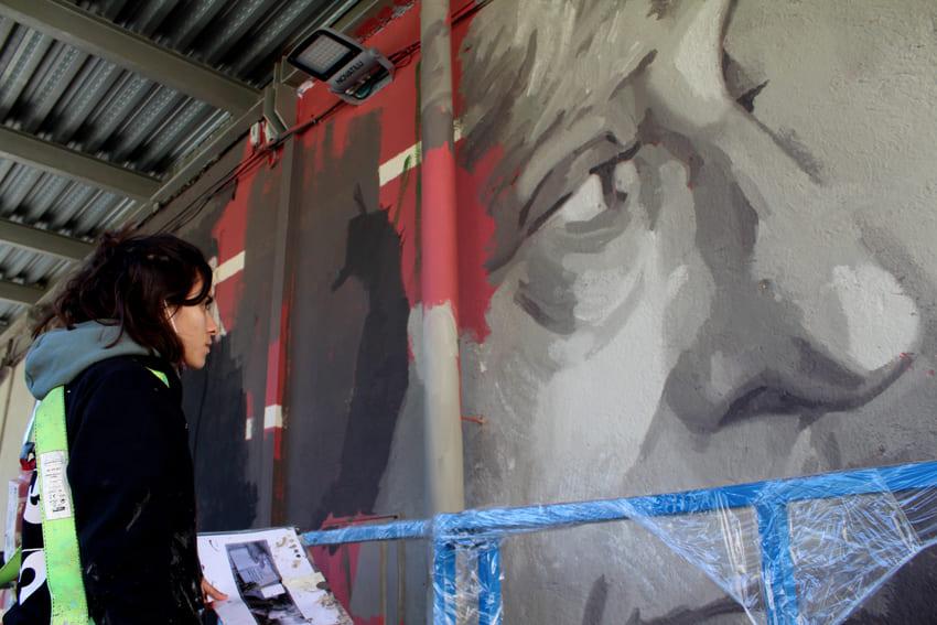 Mural Marta Pessarrodona_Elisa Capdevila_Sant Cugat 8