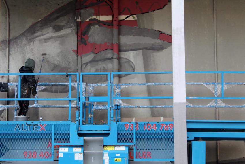 Mural Marta Pessarrodona_Elisa Capdevila_Sant Cugat 9